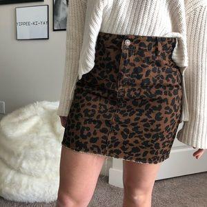 NASTY GAL: feline myself leopard skirt